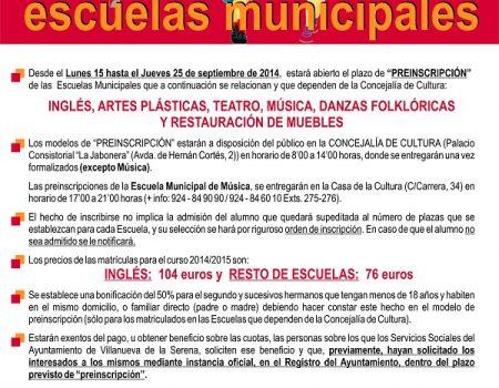 Escuelas Municipales de Cultura