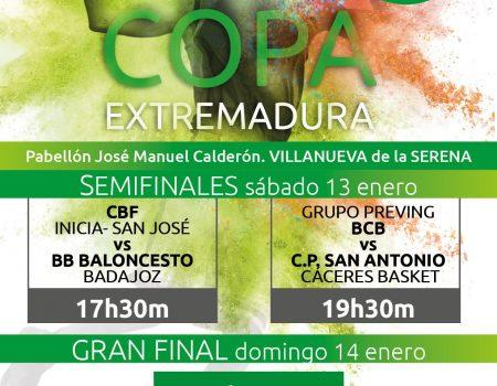 Villanueva de la Serena, sede de la Copa de Extremadura de Primera División Nacional de Baloncesto