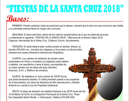 Convocado el XV concurso de carteles de las fiestas de la Santa Cruz