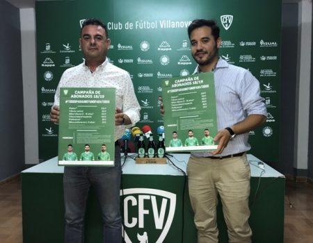 El CF Villanovense presenta su campaña de abonados para la próxima temporada