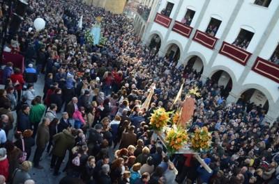 El 22 de abril, regreso de la Virgen de la Aurora a su ermita