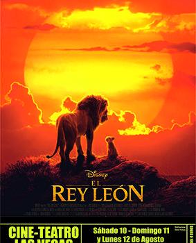 """Cine Teatro Las Vegas, presenta """"El Rey León"""""""