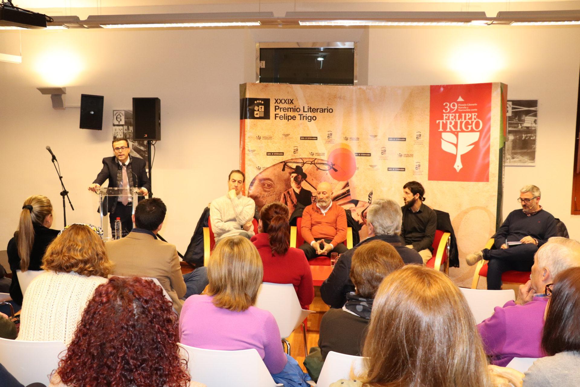 Ignacio del Valle, Mariano Catoni, José Antonio Ramírez y Diego González, hablan de lo que significó haber ganado el Premio Literario Felipe Trigo
