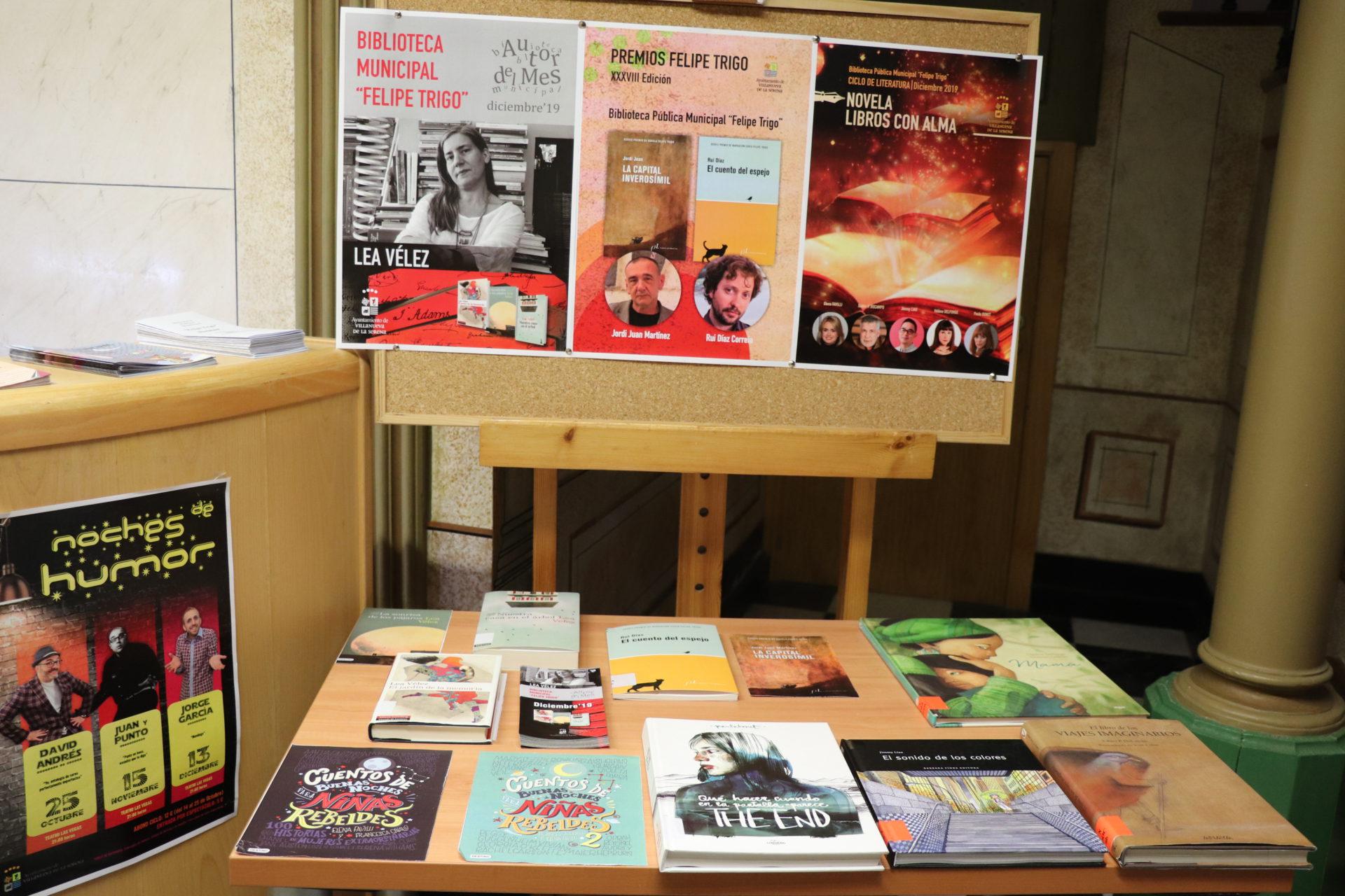 Lea Vélez, autora del mes de diciembre en la Biblioteca Felipe Trigo