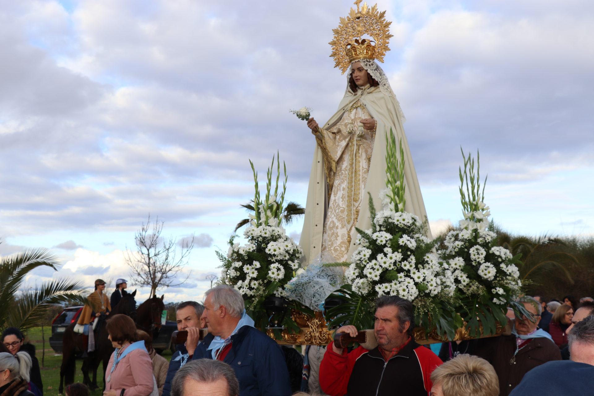 La Virgen de la Aurora ya se encuentra en la Parroquia Nuestra Señora de la Asunción