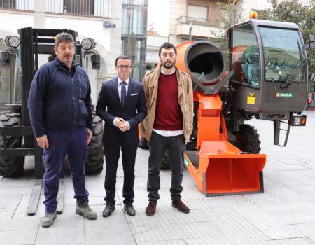 El servicio de Vías y Obras cuenta con dos nuevos vehículos, una hormigonera y una carretilla elevadora