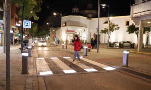 En marzo entrarán en funcionamiento los pasos de cebra inteligentes y el radar ubicado en la avenida Puerta de la Serena
