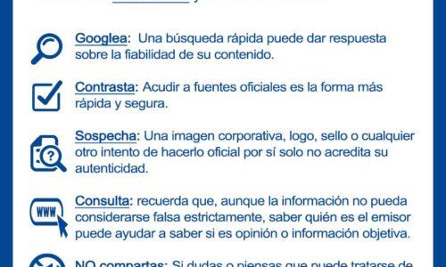 """La Policía Nacional da 5 consejos para combatir las """"Fake News"""" y la desinformación"""