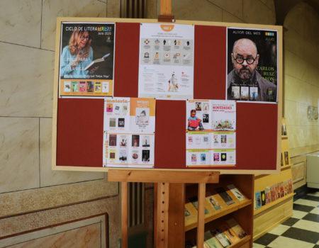 Carlos Ruíz Zafón, autor del mes de julio en la biblioteca Felipe Trigo