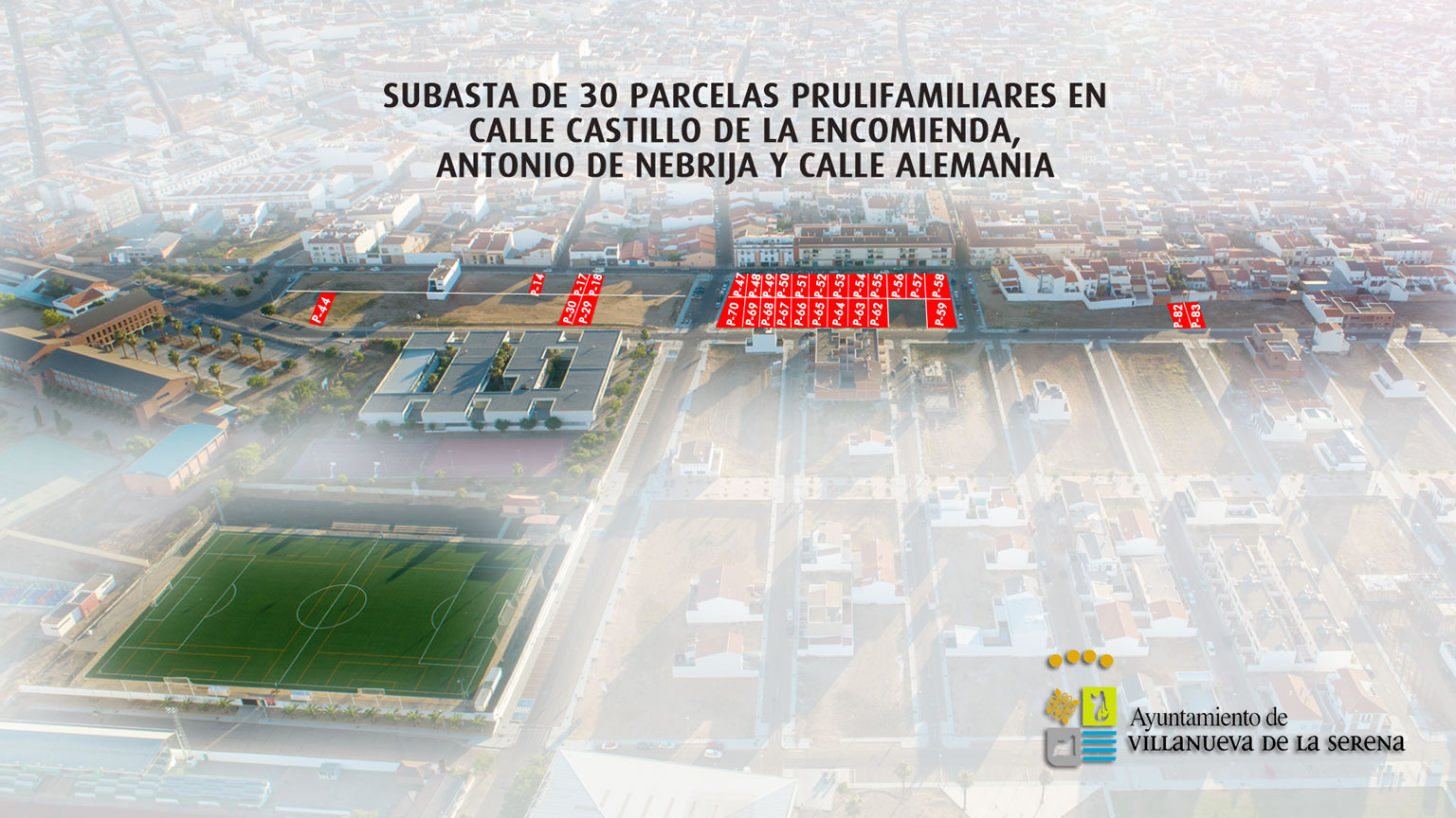 """La junta de Gobierno aprueba el expediente de contratación para la venta de 30 parcelas plurifamiliares en la """"Zona Verde-Avenida de los Deportes"""""""