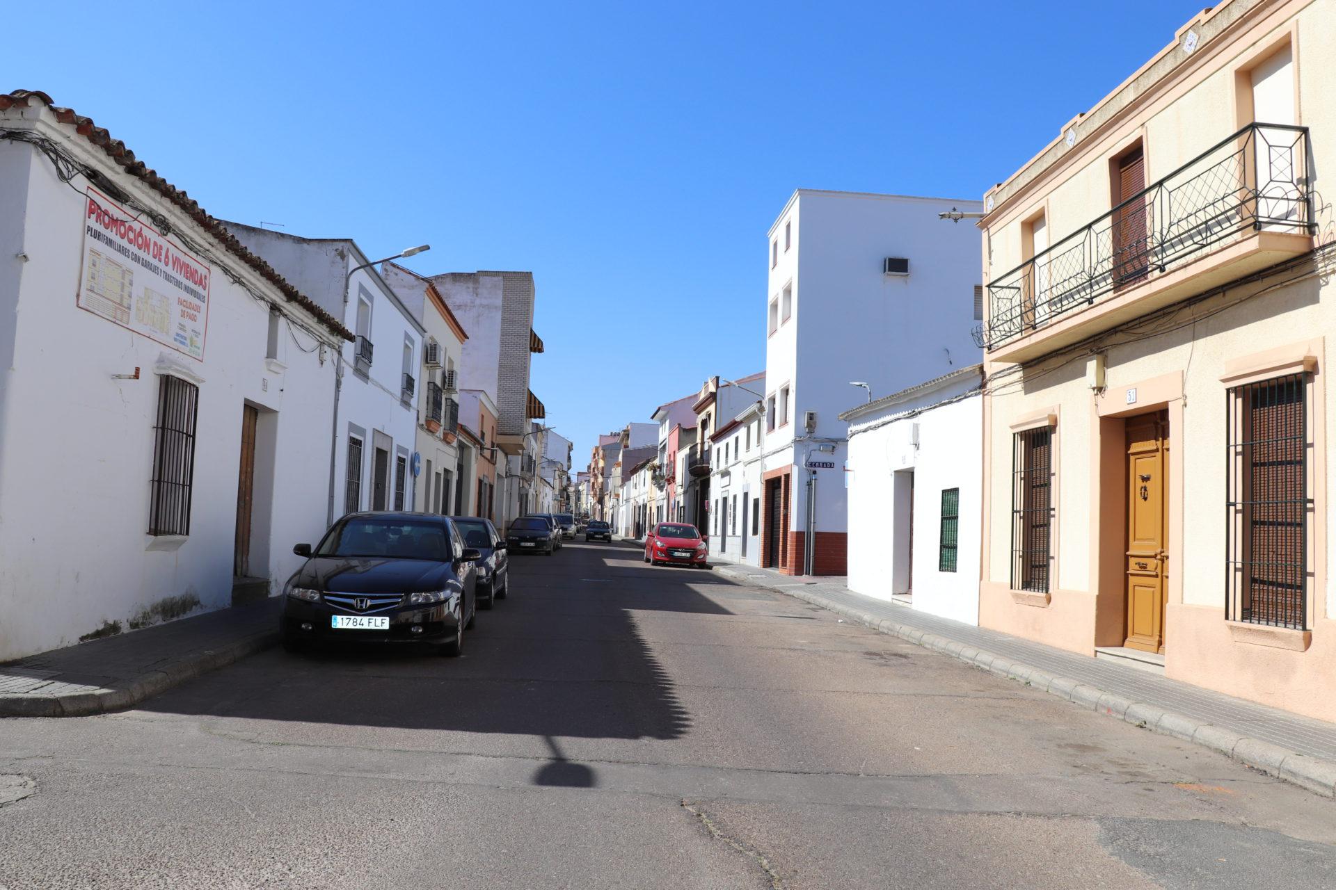 Corte de tráfico en la calle San Miguel el 28 de octubre