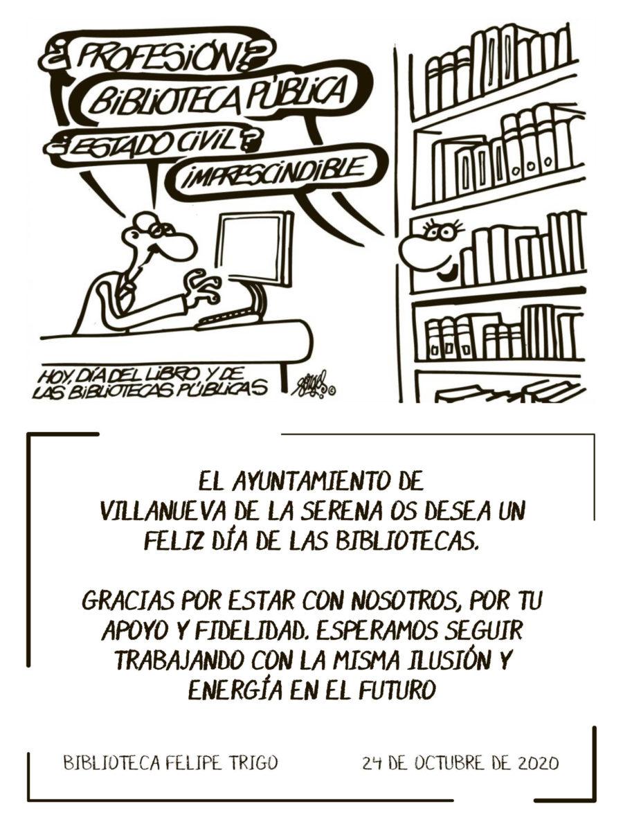 La biblioteca Felipe Trigo se suma al Día de la Biblioteca