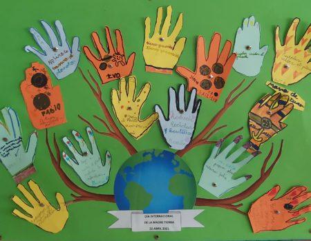 Escolares de 6 y 7 años participan en la campaña de sensibilización con motivo del Día Internacional de la Madre Tierra