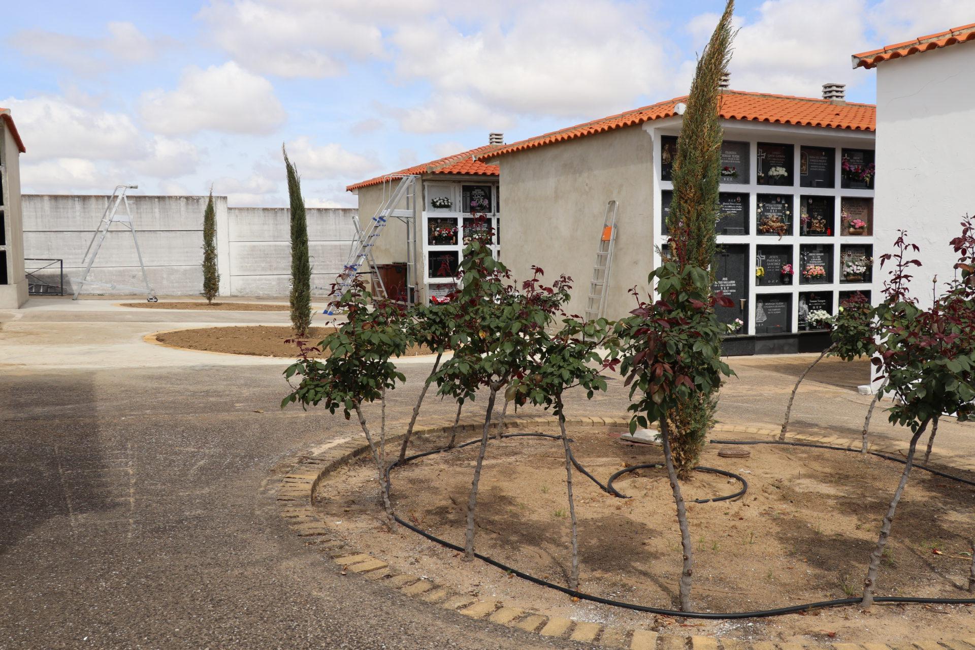 Se ejecutan obras de mejora y construcción de nichos en el cementerio municipal
