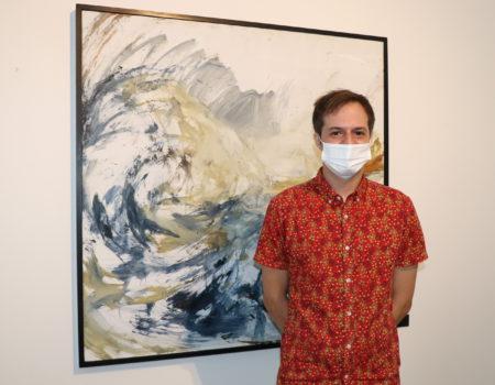"""La exposición """"Azul"""" de Eduardo Chozas Bohoyo, en la sala de exposiciones Rufino Mendoza"""