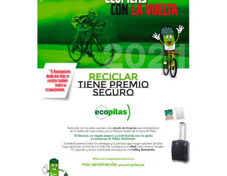"""""""Reciclar tiene premio seguro"""", el proyecto de la fundación Ecopilas en la Vuelta Ciclista a España"""